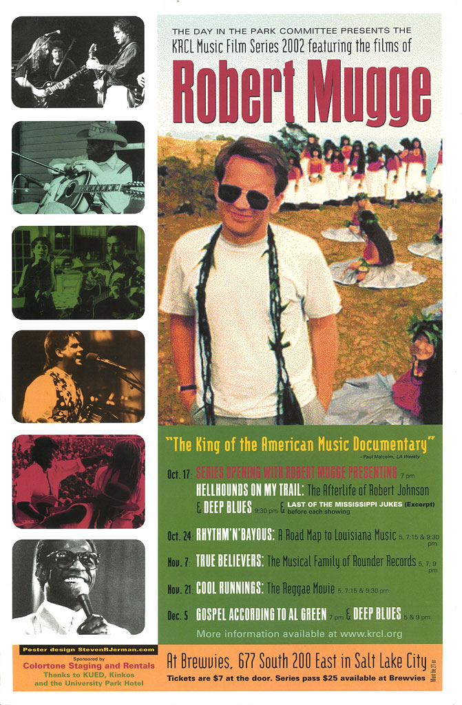 KRCL Music Film Series 2002 featuring the films of Robert Mugge